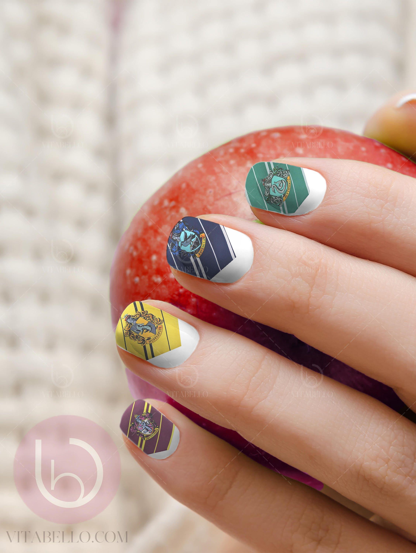 Harry Potter Nail Decal, Nail Design, Nails, Press On Nail Decal ...