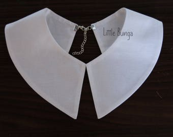White collar, Vintage Collar, Wednesday Addams collar , Detachable collar, Madonna costume ,Pilgrim Costume, halloween accessory