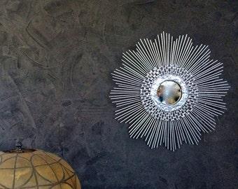 Silver Starburst mirror / Sunburst Mirror, The Vintage-16in, handmade mirror, silver mirror, gold mirror, copper mirror, retro mirror