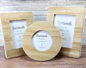 Dartmouth Porthole, 6x4 or 7x5 Wooden rope Photo frame