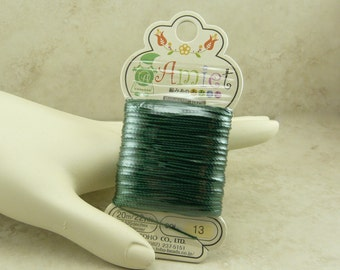 Amiet Polyester Thread Cord by TOHO - Color 13 Emerald Green 20m 22yds - For jewelry design - I ship Internationally