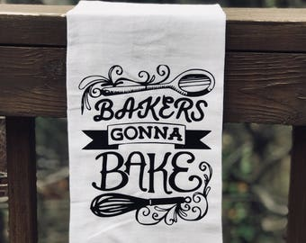 bakers gonna bake flour sack towel - Bakers Gonna Bake Kitchen Redwork Embroidery Designs