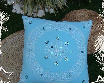 Glittery large cushion INDIA