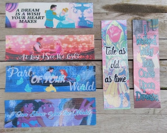 6 set, or Single Disney Couples Bookmarks, Disney, Quotes, Book, Bookmarks