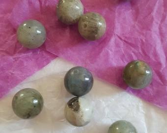 Grey Labradorite bead 12mm natural. (8163092)