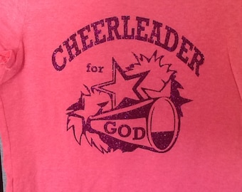 Cheerleader for God customizable t shirt