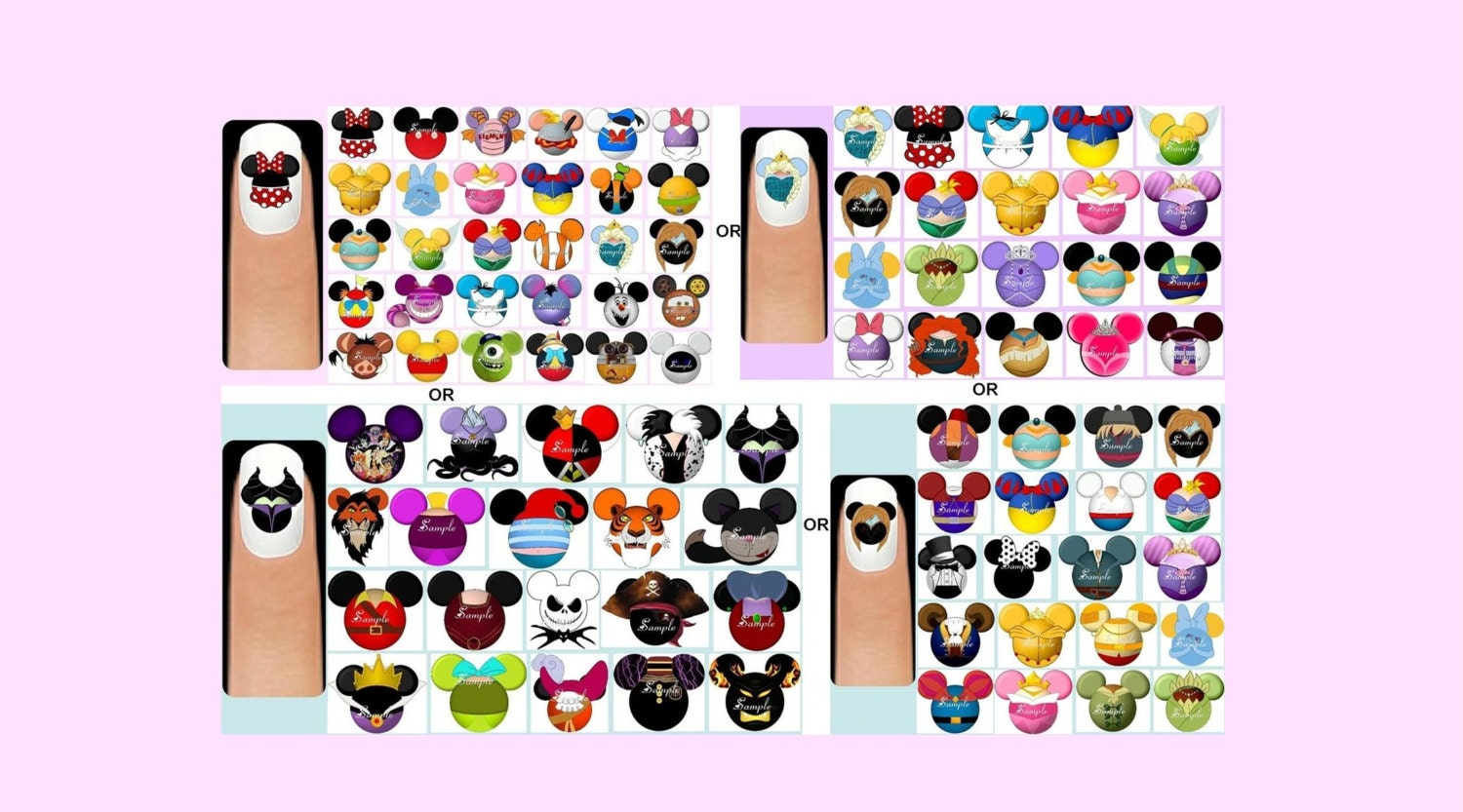 60x Disney Characters Princesses Princes & Princesses OR