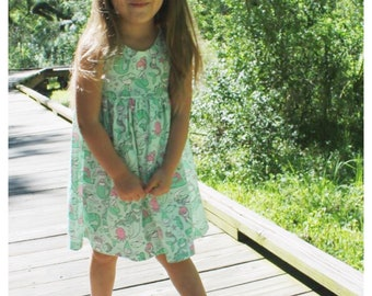Mermaid Dress, summer dress, summer outfit, baby dress, toddler dress, girl dress, mermaod outfit, green mermaids
