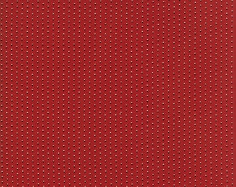 Moda - Needle & Thread Gatherings - Double Dot Red - Russet - Fabric by the Yard 1236-13
