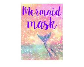 Mermaid face mask