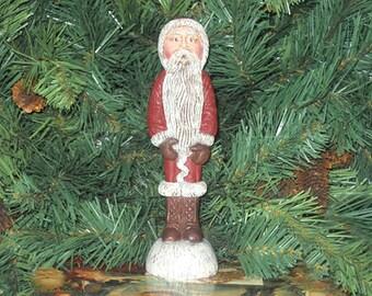 "6 1/2"" Santa, Hand Painted Santa, Resin Santa, Santa Claus, Christmas Santa Claus, Santa,  Santa, Christmas Ornament, New York Treasures"