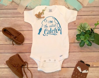 Fishing Onesie®, Baby Shower Gift, Baby Boy Clothes, I'm the Cutest Catch Onesie, Hunting Baby Bodysuit, Country Baby Clothes, Cute Onesies