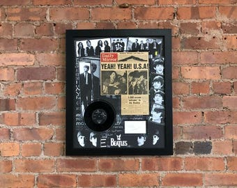 John Lennon Autograph | The Beatles Memorabilia Framed | John Lennon Signature | 1960s memorabilia | Beatles Gifts | She Loves You