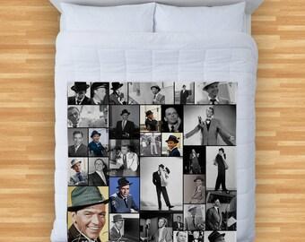 Frank Sinatra Design Soft Fleece Blanket Cover Throw Over Sofa Bed Blanket