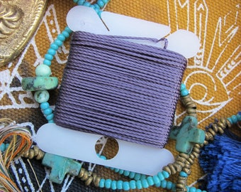 Plum Mauve Jewelry String 288 Inches 18 Bead String Size .5 DIY Twisted Nylon Bead Cording Neutral Purple Cord & More 70 Colors Available