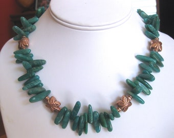 Turquoise and Copper Stone Necklace