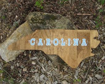 North Carolina wall art, graduation gifts for him, North Carolina, graduation gift, wood state cutout, dorm décor, office wall art, unc