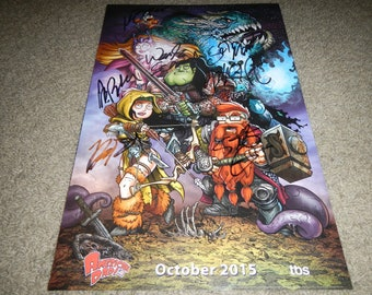American Dad signed poster 11x17