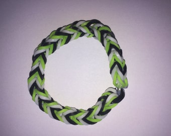 Zombie Style Loom Rubber Band Bracelet-Fishtail Design (Free Shipping)