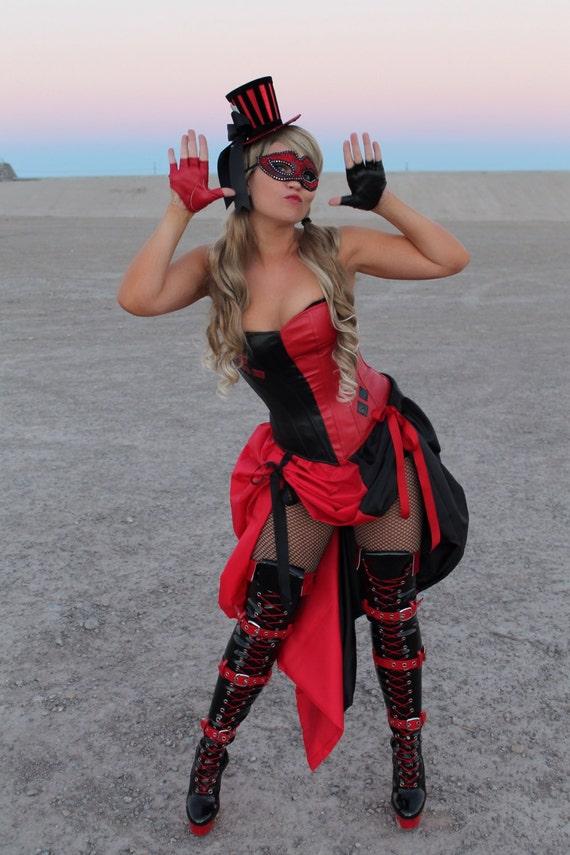 Harley burlesque quinn costume overbust corset solutioingenieria Image collections