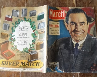 Vintage French Paris Match Magazine No 503 Elections Hollywood Special circa 29 Nov November 1958 / English Shop