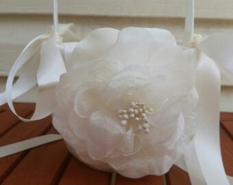 SALE - Wedding Flower Basket, Flower Girl Basket, Flower Basket  - Style BKF100
