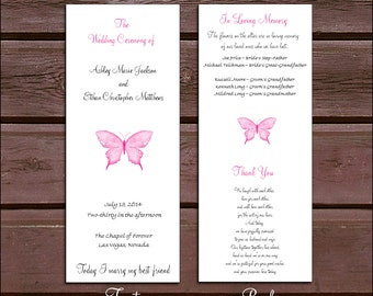 150 Butterfly Wedding Ceremony Programs