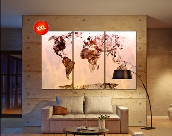 world map art canvas  print on canvas world map art canvas Art Print artwork large world map Print home office decoration