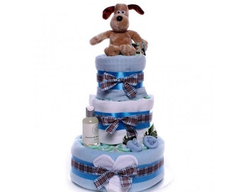 Gromit Nappy Cake Baby Boy.
