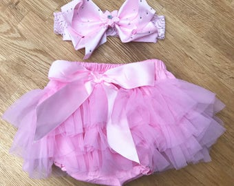 Bloomers frilly pants sets with lovely headbands or DESIGN YOUR OWN