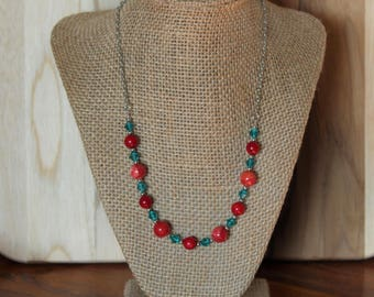 SALE:Red, White and Blue Necklace (Short)