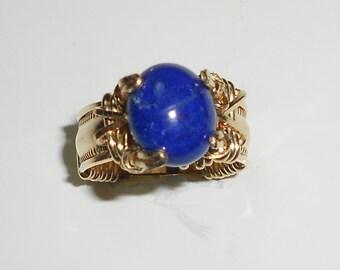 Blue Lapis on Gold