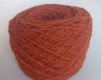 Reclaimed Lambswool Blend rust Yarn