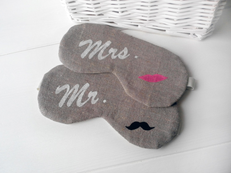 Mrs Mr Sleep Mask Wedding Night Gift Set Of 2 For Couple