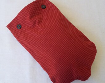 Only 2 left - Red Houndstooth Check Hot Water Bottle Cover