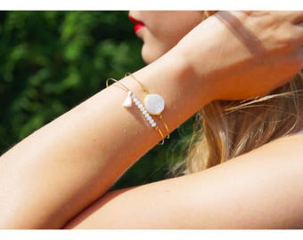Set of two bracelets rings gold plated