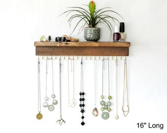 Wall Jewelry Organizer For Necklaces or Bracelets
