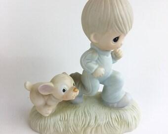 Vintage Precious Moments God's Speed Figurine E-3112