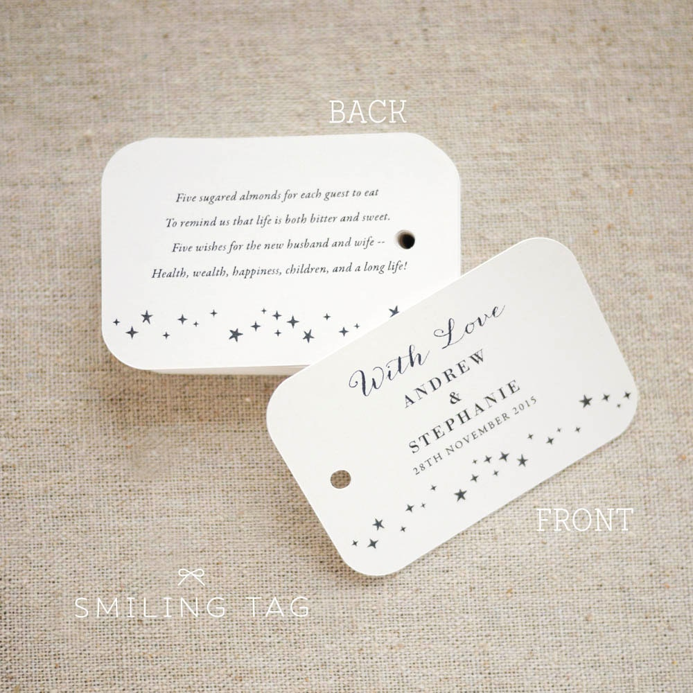 personalized wedding favor tags - Dorit.mercatodos.co