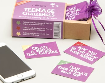 Teenage Girl Challenges | Personalised Gift for Teenagers | Activity Box | Challenge Box