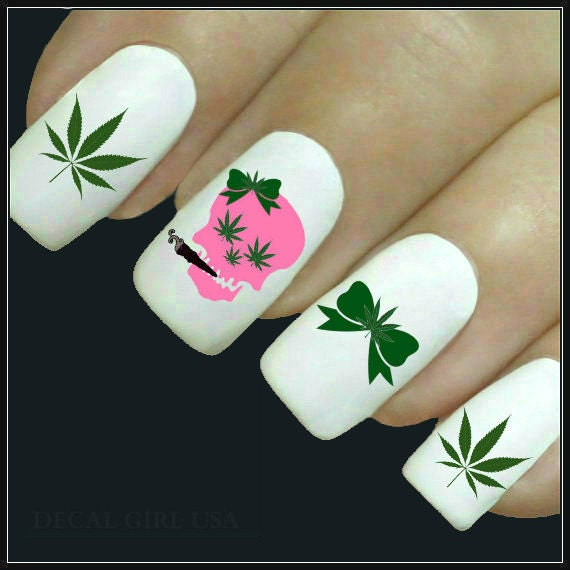 Nail Decal Marijuana Nail Art 20 Cannabis Water Slide Decals