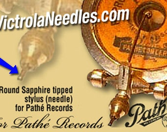 Pathe Stylus with Sapphire Ball Tip for Vintage Pathe Phonograph 90rpm Records ETSY