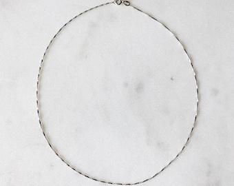 """Dead Stock Vintage 925 Italian Sterling Silver Delicate Twist Choker 15"""""""