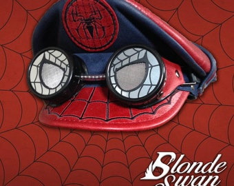 NEW!!! Spider-Man Inspired Crush Cap & Goggles
