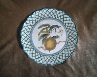 Raymond Waites Cornucopia Pattern Lemon Dinner Plate...Free Shipping! & Raymond waites | Etsy