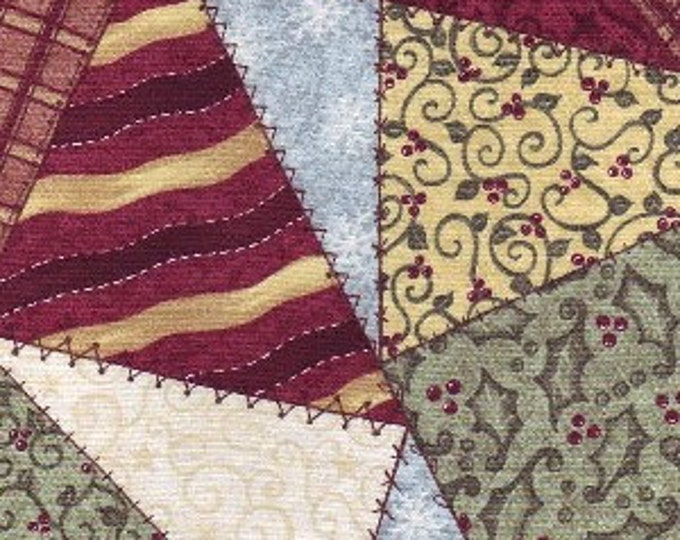 Cotton Fabric by Nostalgic Noel Christmas Fabric by Pearl Krush for Riverwood Collections 100% Cotton