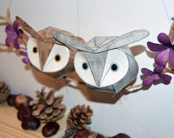 Hoot owl wall hanging, owl mobile