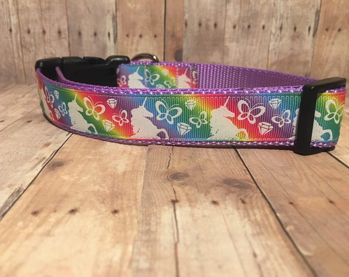 "The Unicorn | Designer 1"" Width Dog Collar 