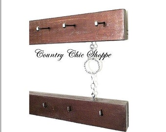"Copper 2-Tier Organizer for Jewelry, Belts, Scarves, Neckties. For Men or Ladies. 16"" Long. Hang in the Closet, Bedroom, or Bathroom."