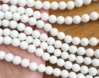 White Agate, 8mm Beads, White Beads, Jewelry Beads, Natural Gemstones, Natural Beads Healing Gemstones, White Agate Beads, Agate Beads White